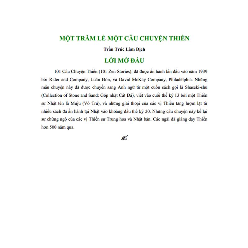 101 Câu Chuyện Thiền – Trần Trúc Lâm, 56 Trang